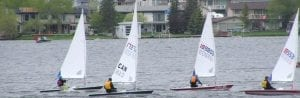 Sailing on Chestermere Lake